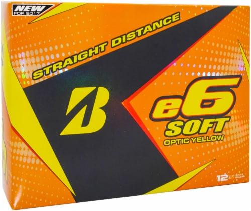 Bridgestone Golf E6 Straight Distance Golf Balls - Optic Yellow Perspective: front