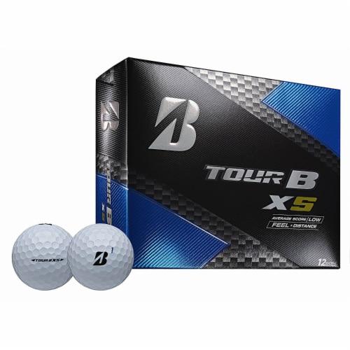 Bridgestone Tour B XS Golf Balls Low Average Score 8SWX6D, 1 Dozen Perspective: front
