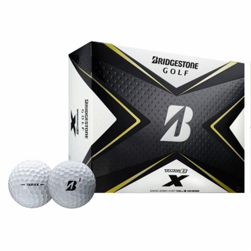 Bridgestone B0WX6D Bridgestone Tour B X Golf Balls-Dozen White Perspective: front