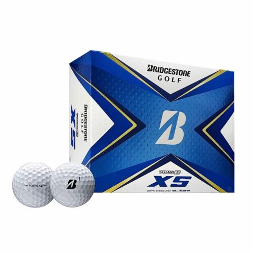 Bridgestone 2020 Tour B XS Reactive Urethane Distance White Golf Balls, 1 Dozen Perspective: front