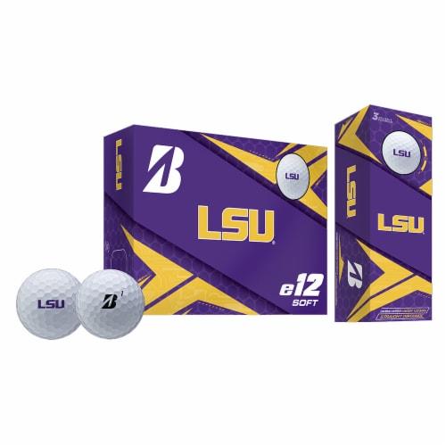 Bridgestone Golf 9CWYNCALS Louisiana State Tigers e12 Soft Golf Balls, 6 Pack Perspective: front
