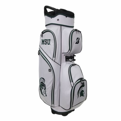Bridgestone P921MS Bridgestone NCAA Golf Cart Bag-Michigan State Perspective: front
