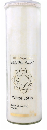 Aloha Bay  Palm Wax Candle White Lotus Perspective: front