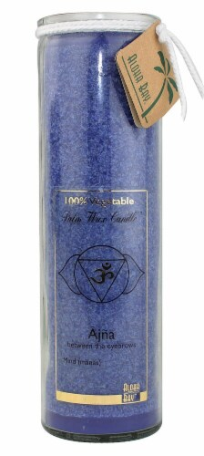 Aloha Bay Chakra Jar Ajna Palm Wax Candle Perspective: front