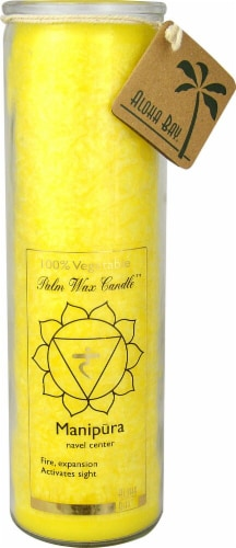 Aloha Bay  Palm Wax Candle™ Manipura Yellow Perspective: front