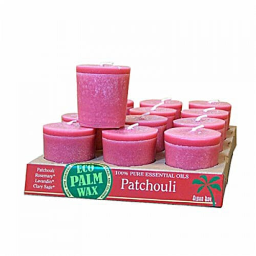Aloha Bay Patchouli Scented Votive Candles Perspective: front