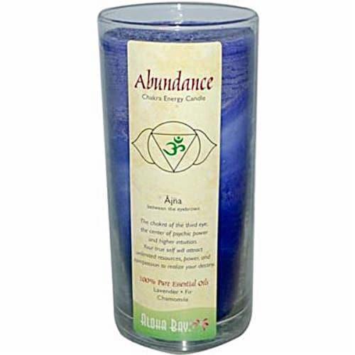 Aloha Bay Abundance Chakra Jar Candle Perspective: front