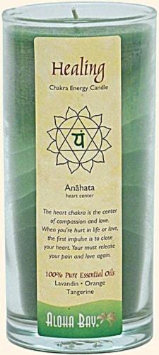Aloha Bay Healing Chakra Jar Candle Perspective: front