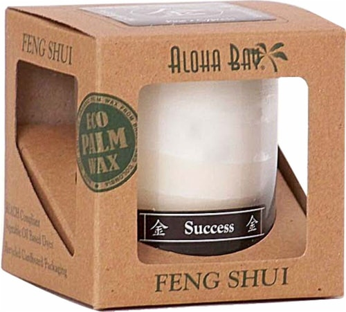Aloha Bay Feng Shui Success Candle Jar Perspective: front