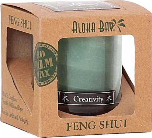 Aloha Bay Feng Shui Creativity Candle Jar Perspective: front