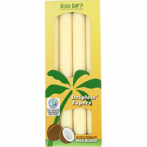 Aloha Bay Dripless Tapered Candles - Cream Perspective: front