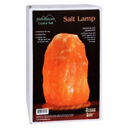 Aloha Bay Himalayan Crystal Salt Lamp Perspective: front