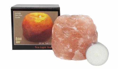 Aloha Bay Himalayan Salt Tea Light Holder Perspective: front