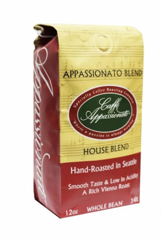 Caffe Appassionato House Blend Whole Bean Coffee Perspective: front