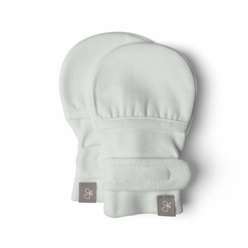 Goumikids Soft Organic Stay On No Scratch Baby Infant Mitts, 3-6M Succulent Perspective: front