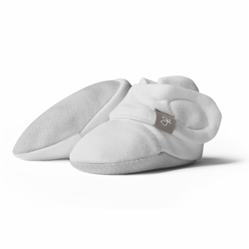 Goumikids Super Soft Organic Stay On Baby Gripper Booties, 6-12M Desert Mist Perspective: front