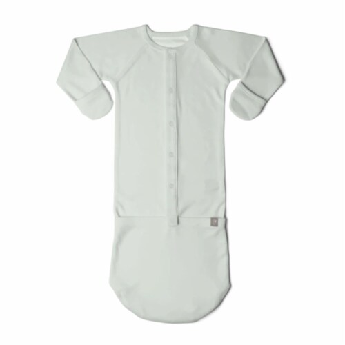 Goumikids Baby Sleeper Gown Organic Sleepsack Pajama Clothes, 0-3M Succulent Perspective: front