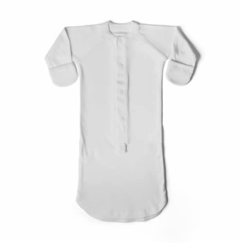 Goumikids Baby Sleeper Gown Organic Bamboo Sleepsack Pajamas, 0-3M Desert Mist Perspective: front