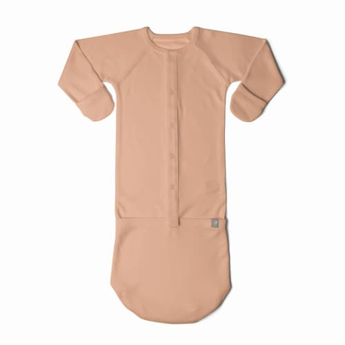 Goumikids Baby Sleeper Gown Organic Bamboo Sleepsack Pajamas, 3-6M Prickly Pear Perspective: front