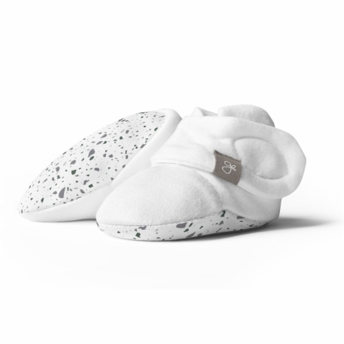 Goumikids Soft Organic Stay On Baby Boots Infant Bootie Shoes, 3-6M Terrazzo Perspective: front