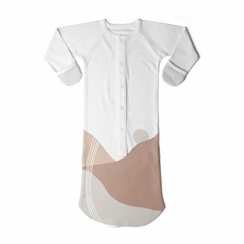 Goumikids Baby Sleeper Gown Organic Sleepsack PJ Clothes, 0-3M Sun Kissed Valley Perspective: front