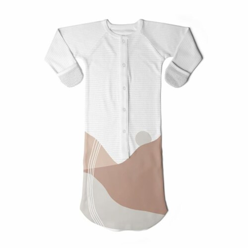 Goumikids Baby Sleeper Gown Organic Sleepsack PJ Clothes, 3-6M Sun Kissed Valley Perspective: front