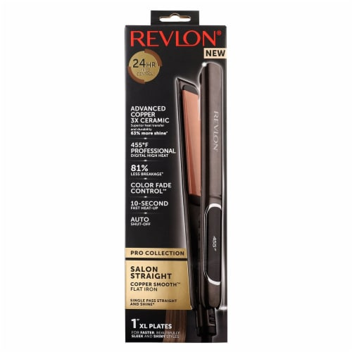 Revlon Pro Collection Salon Straight Copper Smooth Flat Iron Perspective: front