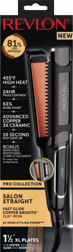 Revlon Salon Straight Copper Smooth Flat Iron Perspective: front