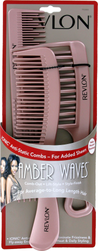Revlon Amber Waves Anti-Static Comb Perspective: front
