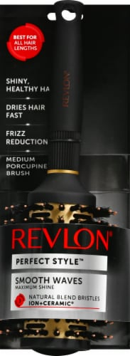 Revlon Perfect Style Ion+Ceramic Maximum Shine Round Hair Brush Perspective: front