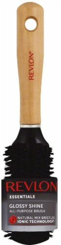 Revlon Essentials Wood All Purpose Boar Blend Brush Perspective: front