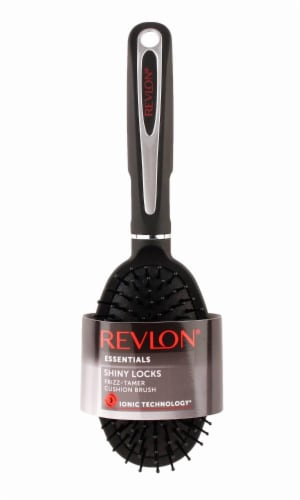 Revlon Essentials Shiny Locks Frizz-Tamer Cushion Brush Perspective: front
