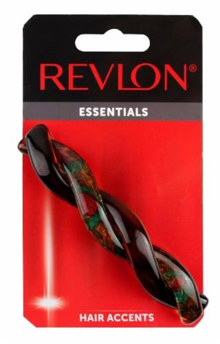 Revlon Essentials Braided Tortoise Barrette Perspective: front