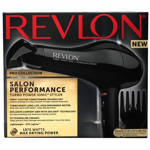 Revlon Pro Collection Salon Performance Turbo Power Ionic Styler Hair Dryer Perspective: front