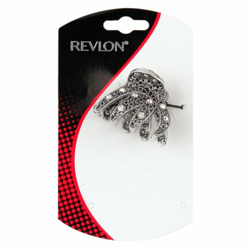 Revlon Metal Claw Clip With Rhinestones Perspective: front