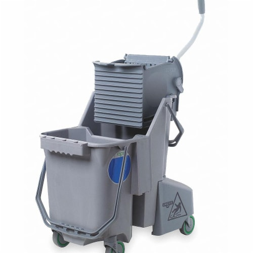 Unger Mop Bucket and Wringer,8 gal.,Gray  COMBG Perspective: front