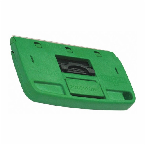 Unger Glass Scraper,Stiff,4 ,Carbon Steel  TX100 Perspective: front