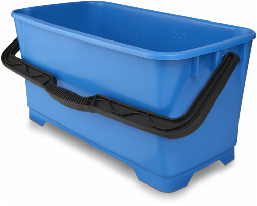 Unger Heavy-Duty Plastic Cleaning Bucket - Blue Perspective: front