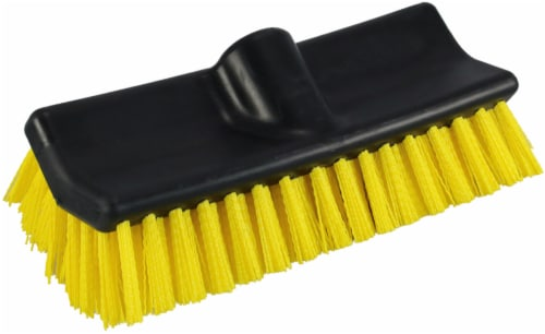 Unger HydroPower Bi-Level Scrub Brush - Black/Yellow Perspective: front