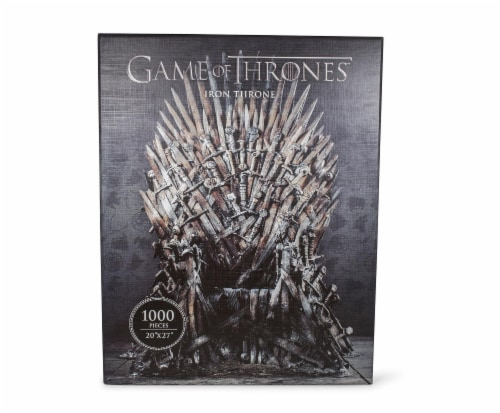 Game Of Thrones Puzzle The Iron Throne 1000 Piece Jigsaw Puzzle | Ages 15 & Up Perspective: front