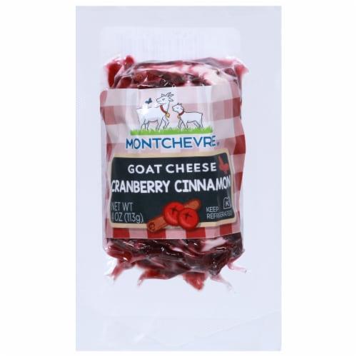 Montchevre Chevre Cranberry Cinnamon Fresh Goat Cheese Perspective: front