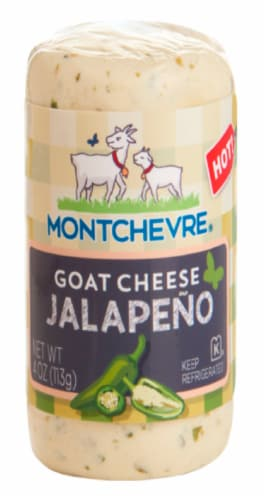 Montchevre Jalapeno Goat Cheese Perspective: front
