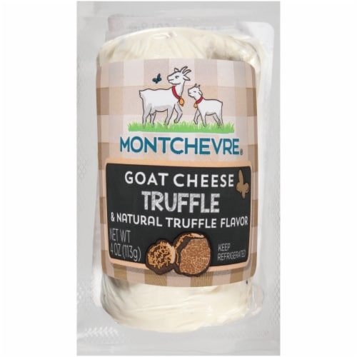 Montchevre Truffle Goat Cheese Log Perspective: front