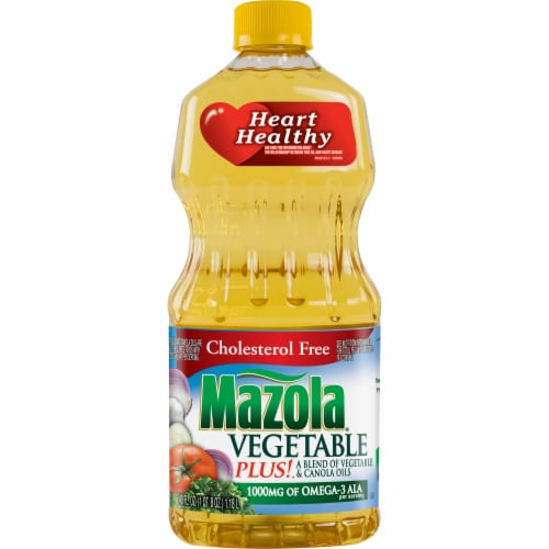 Mazola Vegetable Plus Oil Blend Perspective: front