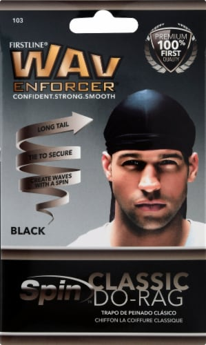 Wavenforcer Classic Do-Rag - Black Perspective: front
