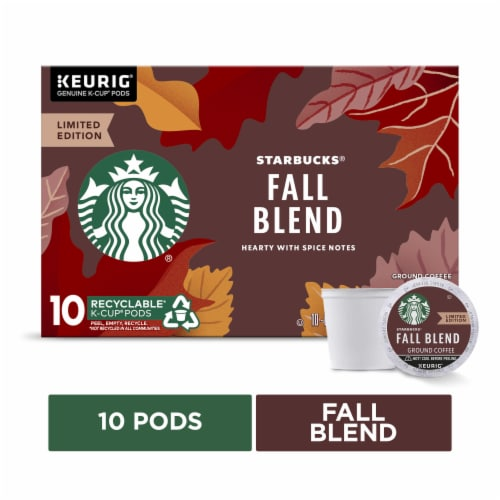 Starbucks® Fall Blend Medium Roast Coffee K-Cup Pods Perspective: front