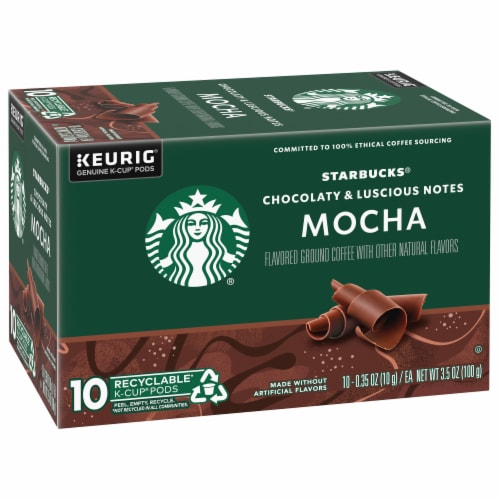 Starbucks Mocha Flavored Ground Coffee K-Cup Pods Perspective: front