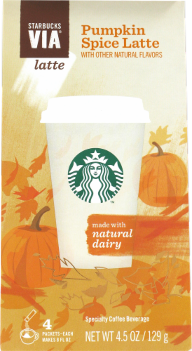 Starbucks VIA Pumpkin Spice Latte 4 Count Perspective: front