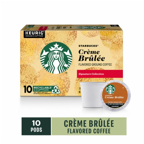 Starbucks Signature Collection Creme Brulee Flavored Ground Coffee K-Cup Pods Perspective: front