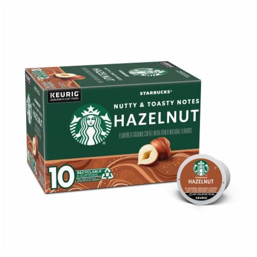 Starbucks Hazelnut Coffee K-Cup Pods Perspective: front